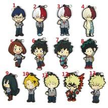 Anime My Hero Academia Boku no Hero Akademia Keychain Rubber Strap Keyring  - $3.94+