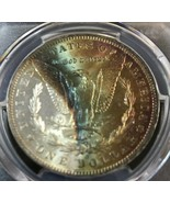 1885-O PCGS MS 63 Monster Rainbow Toned Color Morgan Silver Dollar - $173.25