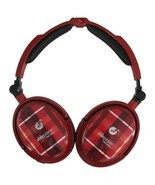 NEW ABLE PLANET LINX AUDIO NOISE CANCELING TRAVEL HEADPHONES XNC230 RED ... - £91.66 GBP