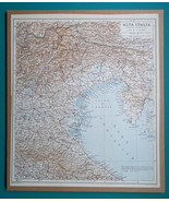 """ITALY North East Part - 1931 BAEDEKER MAP 10.5 x 12.5 """"  26.5 x 32 cm - $21.60"""