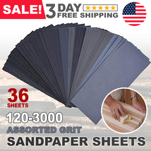 Sandpaper Sheets Sanding Paper Grit Wet & Dry for Wood Auto Car Metal Work - $9.98