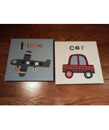Standard Car and Plane Pictures Children 12in L... - $23.04