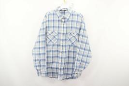 Vintage 80s Levis Mens Large Long Sleeve Button Front Plaid Western Shir... - £30.24 GBP