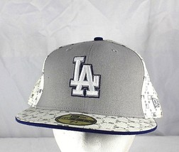 LA Dodgers White/Gray Baseball Cap Fitted 7 3/4  NWOT - $24.99