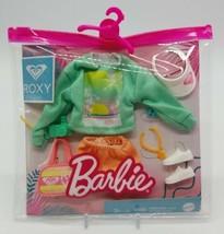 BARBIE Storytelling Doll Fashion Pack ROXY Beach Sweat Shirt Shorts Acce... - $14.73