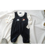 Infant Baby Boy Navy One Piece Coverall Soft Suit Mock Long Sleeve Shirt... - $10.77