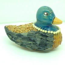 Unique Duck Figure Glazed Seeds over Clay/Pottery Hand Carved Uruguay - $14.50