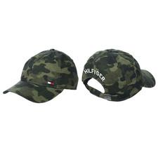 Tommy Hilfiger Men's Dad Hat Billy Corner Flag Army Camo Baseball Cap 6945218