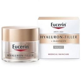 Details about  Eucerin Hyaluron Filler + Elasticity Night Cream 50ml  - $37.62