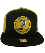 Pittsburgh Men's Patch Style Breathable Snapback Baseball Cap (Black/Gold) - $13.95