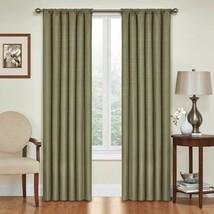 Set 2 Green Curtains Panels Drapes 63 84 95 in Blackout Blocks Light Hea... - $28.61+