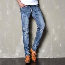 Mens Jeans Men Denim Jean Masculino Regular Jeans Men's Cotton Denim Cas... - $39.06
