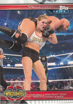 Ronda Rousey/Triple H 2019 Topps WWE Road To Wrestlemania Card #36 - $0.99