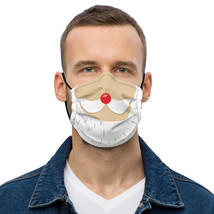 Face mask Funny Santa claus mustache Christmas image 1