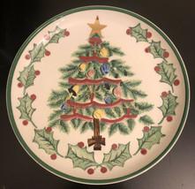 1956 Lefton Christmas Tree Plate #1096, 8.5 inch - $9.90