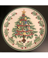 1956 Lefton Christmas Tree Plate #1096, 8.5 inch - $9.90