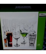 Charisma by Libby 18 Piece Glassware Set - BRAND NEW IN BOX - GREAT SET - $44.54