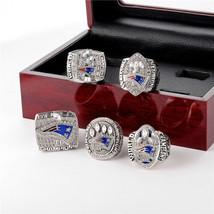 5 PK New England Patriots Super Bowl Champions Rings Tom Brady Boxed Replica - $65.00