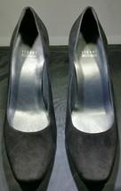Stuart Weitzman Womens Size 8 Pumps Black Leather Suede Spain - $19.99