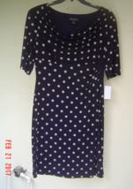 NWT CONNECTED NAVY BLUE POLKA DOTS CAREER SHEATH DRESS SIZE 14 $98 image 2