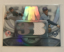 2010 Alex Rodriguez Card /99 Bowman Sterling Refractor Relic - $21.85