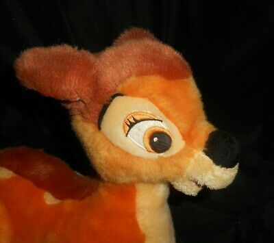 """12"""" Tienda Disney Auténtica Core Bambi Tumbado Marrón Ciervo Peluche Plush Toy"""