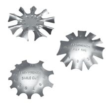 3 PCS French Smile Nail Stencil Cutter Trimmer Clipper Cut Multi-Size Manicure image 1