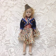 Vintage, Rare, 1950s 8in Plastic Doll in USA Fashion Military Uniform - $9.45