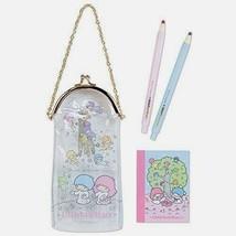 Little Twin Stars Sanrio Mini stationery set with vinyl porch Cute Japan... - $41.14