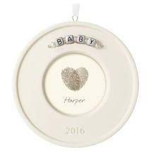 Baby's Fingerprint Kit Hallmark Porcelain Ornament  Personalize Commemor... - $8.89