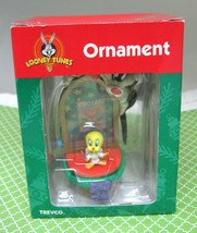 1999 Looney Tunes Tweety & Sylvester Christmas Ornament Stained Glass MI... - $14.85