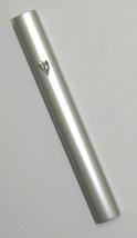 Judaica Mezuzah Case Closed Back Semi Round Matte Silver Aluminum 12 cm Israel image 1