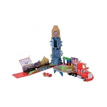Mattel W6605 Cars Mega Mack Race world Playset disney Pixar kids child - $51.48