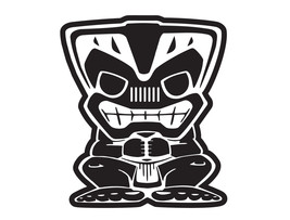 "6"" in Tiki Bob Vinyl Sticker Decal 4x4 Islander - $9.99"