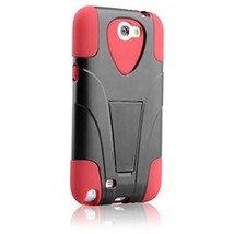 Hypergear Terminator Case w/ Kickstand for Samsung Galaxy Note 2, Red - $17.49