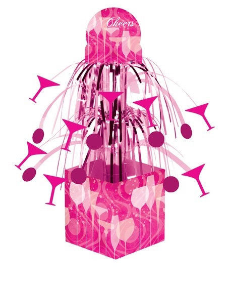 Fabulous Pink Cocktail Drink Birthday Party Cascade Centerpiece
