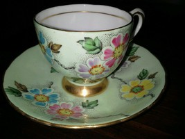 Tuscan English Hand Painted NP- Bone China Cup and Saucer - $31.00