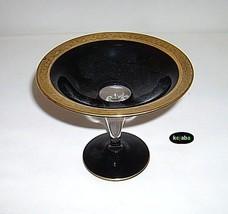Westmoreland Black w/Gold Cased Lustre Glass Sw... - $19.95