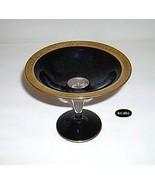 Westmoreland Black w/Gold Cased Lustre Glass Sweetmeat Compote c. 1930s - $19.95