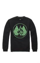 MEN'S GUYS VOLCOM STONE SWEEP BLACK CREW FLEECE SWEATSHIRT GREEN STONE N... - $34.99