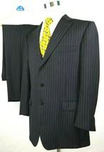 "Ermenegildo Zegna Suit Size 46 R 36 x 30 with 2"" Hem Roma Model Gray Pin... - $158.36"
