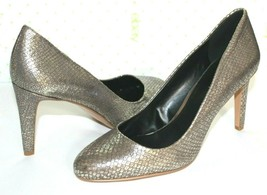 ❤️NINE WEST Handjive Pewter Snakeskin-Embossed Leather Pumps 8.5 US M NE... - $40.55