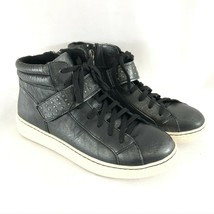 Earth Womens Zeal High Top Sneakers Leather Distressed Lace Up Studded B... - $48.37