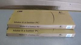 lot of 2 OEM logitech deluxe 250 USB black keyboard  - $1.051,15 MXN