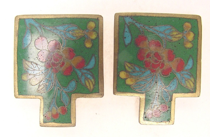 cloisonne deco dress clips asian east indian. Black Bedroom Furniture Sets. Home Design Ideas