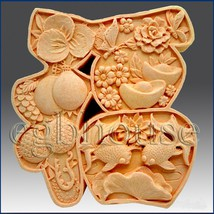 2D Silicone Soap Mold - Great Fortune Character - $23.17