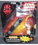 Star Wars Episode 1 DELUXE OBI-WAN KENOBI w/LIGHTSABER from 1998 - $12.96