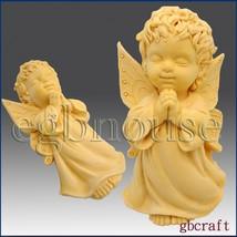 2 1/2D Silicone Soap Mold - Praying Angel Boy - Cherubim - FREE SHIPPING - $29.85