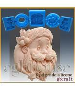 2D Silicone Soap/sugar/fondant/chocolate Mold – Santa Portrait - $52.47