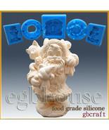 3D Silicone Soap/sugar/fondant/chocolat Mold-Santa carries Gift Bag - $84.65